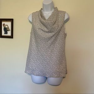 Banana Republic Gray Sleeveless Blouse Size Medium